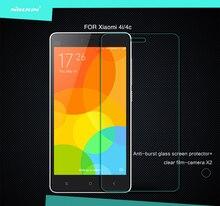 Para xiaomi mi4c/xiaomi mi4i nillkin h + 2.5 d borde redondo 0.3mm anti-peligro de explosión protector de pantalla de cristal templado envío gratis