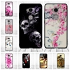 For Huawei Honor 5X Case 3D Relief Print Cartoon Flower Black Cover for Huawei GR5 Soft Silicone Back Cover for Honor5x GR 5
