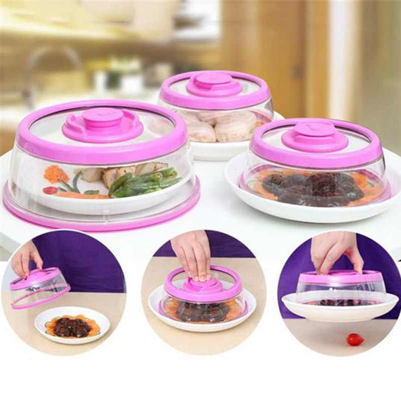 Food Sealer Cover Instant vacuum food Plate topper Vacuum Seal Lids Food Fresh Keeping Covers Kitchen Organization Tools Cover