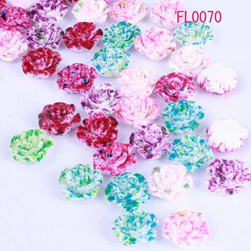 URORU Flores de la Resina Flatback DIY Cabochons de la Joyería/Decoración Del Te