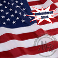 Embroidered American Flag 3x5 Feet/2x3ft/4x6ft Thicken Oxford Nylon USA Flag Slap-Up Home Decorative Hanging Flags and Banners