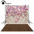 Allenjoy Photography background Colorful flower wooden floor princess kids studio computer printed backdrops