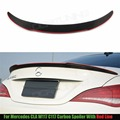 For Mercedes CLA W117 C117 CLA 200 250 260 A45 W117 Carbon Fiber Rear Trunk Spoiler Wing Lid With Red Line 2013 - 2016
