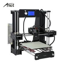 Анет широкоформатной печати Размеры 220*220*250 мм 3D точность принтер RepRap Prusa i3 3D комплект принтера DIY с 10 м нити 8 ГБ SD карты