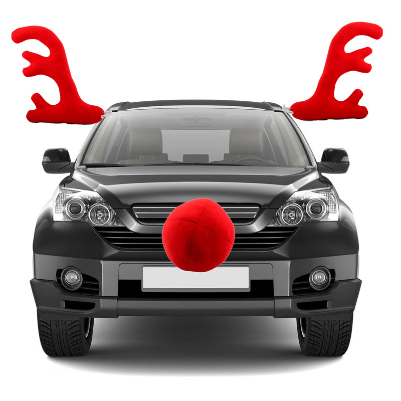 Christmas car decoration toy windows plush reindeer for Automotive decoration
