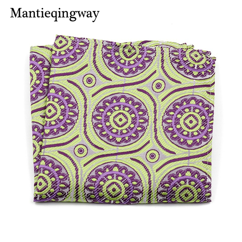 Mantieqingway Paisley Floral Polyester Pocket Square For Wedding Suits Small Hankies For Men Chest Towel Pocket Towel Hankies