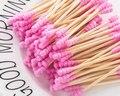 8302CZM de algodón de bambú de brotes de hisopos de algodón médico oído limpieza palos de madera maquillaje herramientas de salud tampones Cotonete