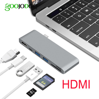 6 In 1 USB C Hub HDMI For Macbook Pro Nintendo Switch Samsung S8 USB C
