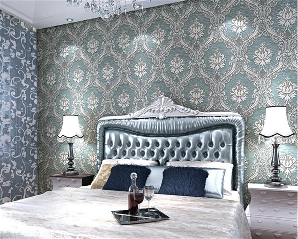 beibehang High-end fashion nonwoven relief wall paper bedroom living room background wall full of 3d wallpaper papel de parede beibehang wall paper pune continental nonwoven shop for retro wallpaper ranunculus sweet potato leaves the bedroom living room