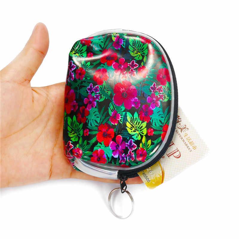 ホログラムレザーミニ財布少女漫画ユニコーンクラッチコイン財布キーリング女性マネーイヤホンポーチバッグ