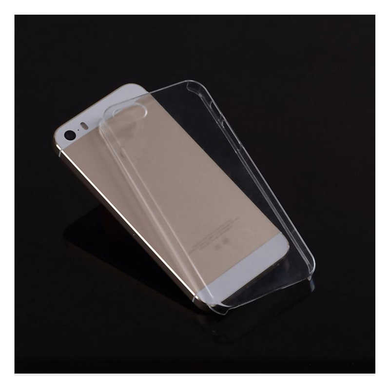 Funda de plástico duro Ultra fino para iPhone 5 y 5s SE 6S 6 plus 5C 4 4S PC transparente cristal Ultra fino brillante Snap funda