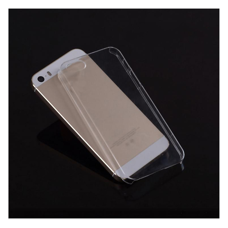 Ultratunn hård plastfodral för iPhone 5 5S SE 6S 6 plus 5C 4 4S PC Transparent Clear Crystal Ultratunt glansigt snäppfodral
