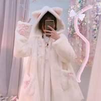 Free shipping 2019 new LOLITA soft sister fur overcoat imitation rabbit hair cat ears