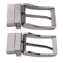 Мужская металлическая пряжка Двусторонняя 360 градусов вращение Cinturon реверсивная Пряжка мужская золотой и серебряный цвета материал