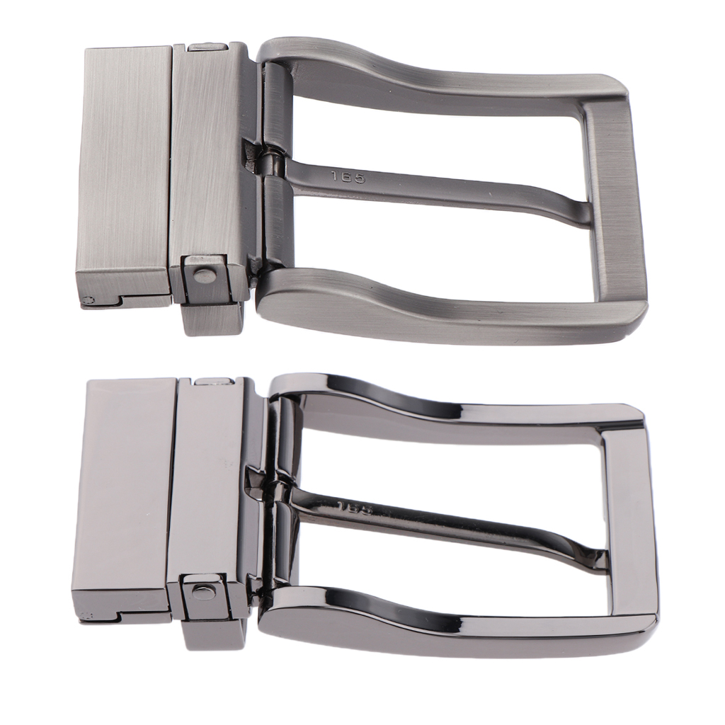 Men Metal Pin Belt Buckle Reversible Clip Buckle DIY Leather Craft Jeans Accessories For 2.8cm-3.4cm Wide Belt