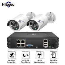 Hiseeu 4CH 1080P POE NVR CCTV System 2PCS POE 13V CCTV Kit HDMI P2P Email Alarm Waterproof Outdoor Video Surveillance