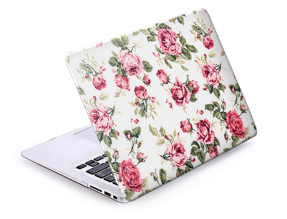 Retro Blue Rose Laptop Accessories Hard Cases Cover For Macbook Pro 13 Case  Pro 13 15 Retina Hp Laptop Protector Shell Skin-in Laptop Bags & Cases