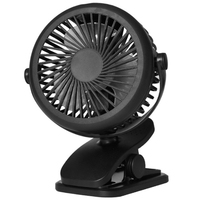 New Usb 5V 5W Home Appliances Portable Usb Charging Fan With Clip For Bedside Baby Stroller-Black