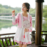 Princesa lolita dulce Caramelo escudo lluvia Japonesa dulce real de la chaqueta de manga larga femenina pequeño todo-fósforo de la rebeca corta C16CD6172