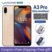 UMIDIGI A3 Pro Global Band Android 8.1 5.719:9 FullScreen smartphone 3GB 32GB Quad core 12MP 5MP Face ID Dual 4G LTE Cell phone