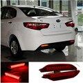Para 2011-2013 Kia Rio K2 Sedan Traseira Do Carro Do Freio De Estacionamento luzes Da Cauda para Carros Luzes de Advertência LED Acessórios Do Carro Da Lâmpada do Refletor lanterna