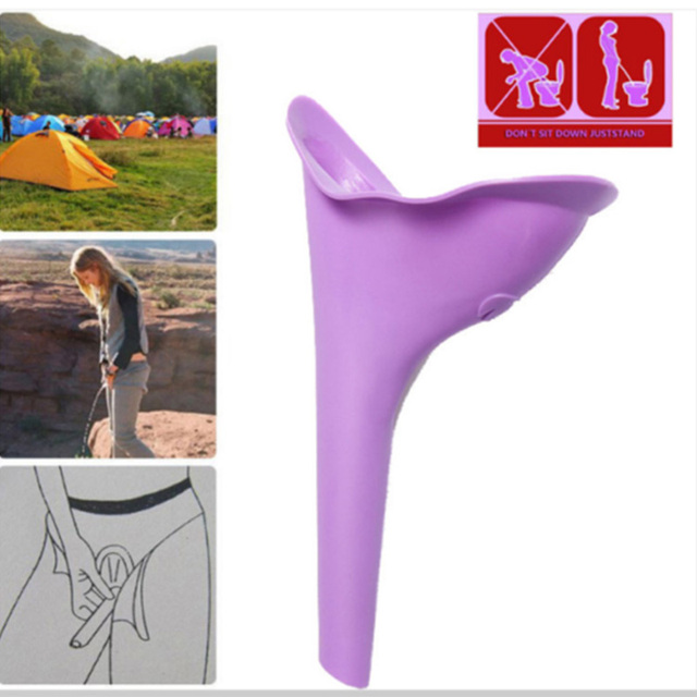 New Design Women Urinal Soft Silicone Urination Device Travel Outdoor Camping Stand Up Pee Device Female Urine Toilet