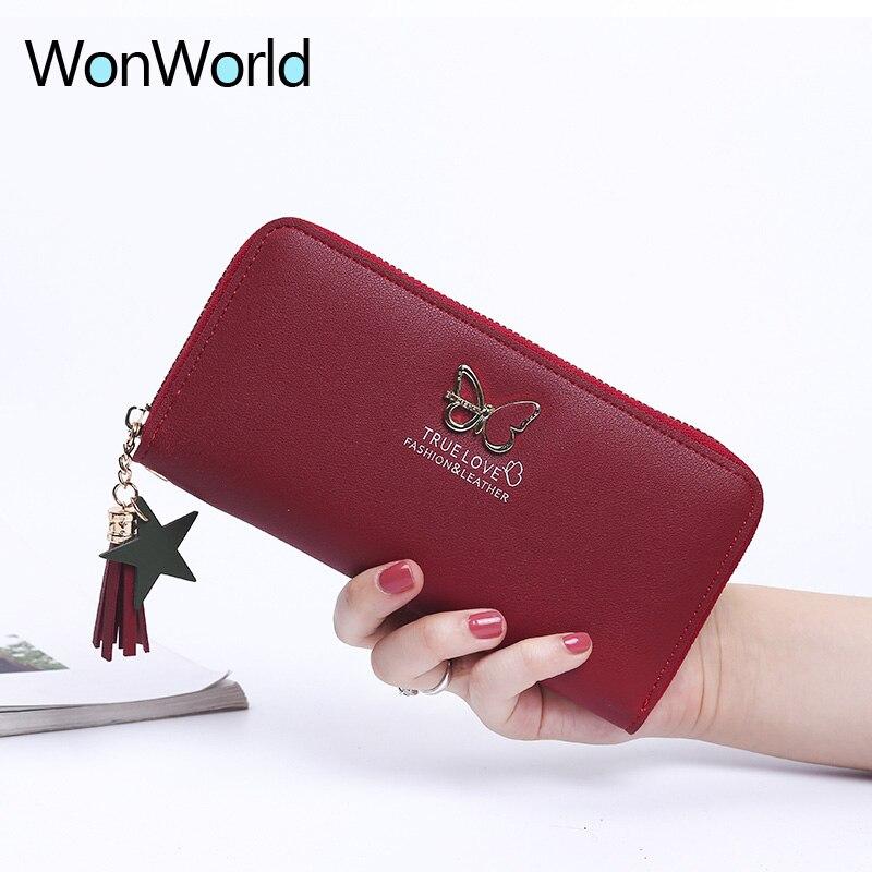 Wallet women portefeuille femme Tassel Checkbook long women wallet coin purses Fancy Clutch Travel lady card Rfid wallets Bolsa