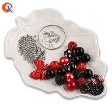 Cordial Design Rhinestone Imitation Pearl Chunky Bubble Polka Dot Acrylic Beads Kits Sets For Kids Pendant Necklace DIY Jewelry