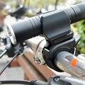 Вращающийся на 360 градусов светодиодный фонарь для велосипеда  держатель для кронштейна  передний светильник  зажим  фонарь  черный аксессу...