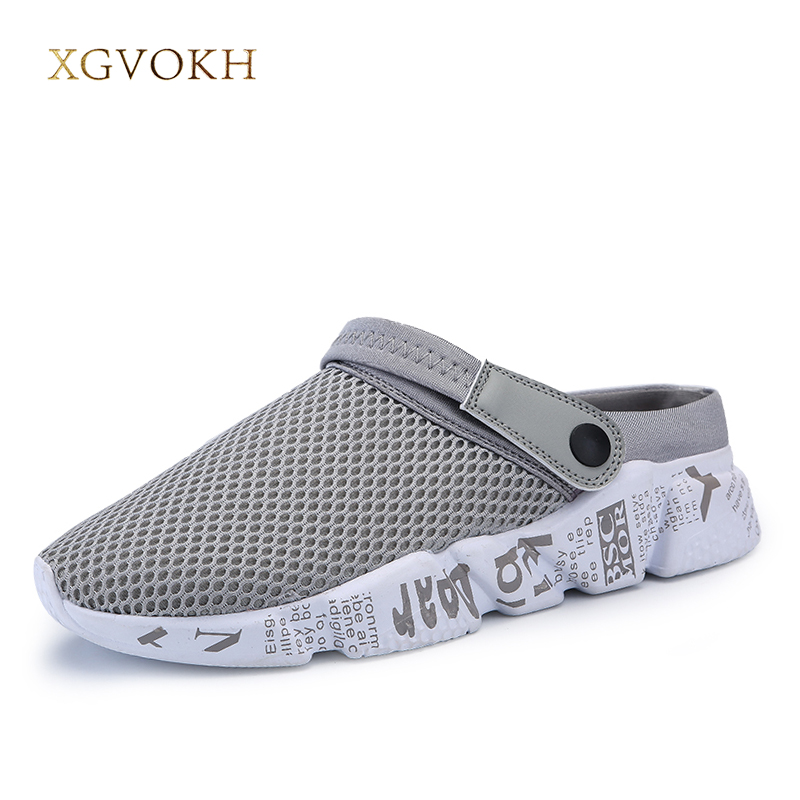 XGVOKH Men Sandals Summer Breathable Mesh Sandal Comfortable outdoor Beach mens Shoes Fashion Slippers size 39-46