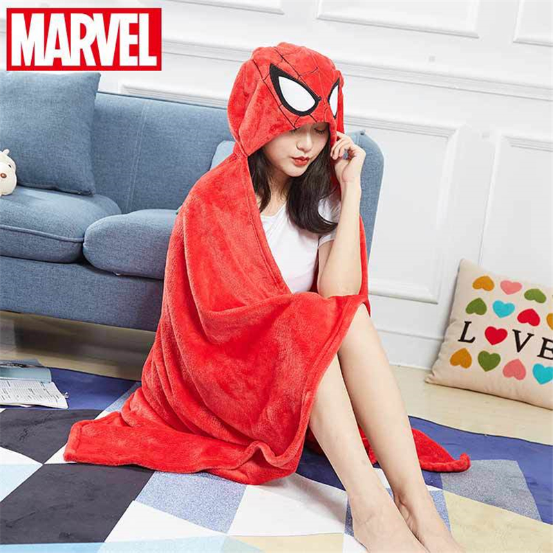 Disney Marvel Captain America Iron Man Spiderman Adult Men's And Women's Bathrobe Cloak Bath Towel Cape Beach Towel Home Blanket