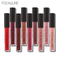FOCALLURE Waterproof Long-lasting Lip Gloss Pigment Dark Purple Black Red Velvet Matte Liquid Lipstick Lot Makeup