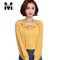 Merderheow New 2017 Spring Women S Plus Size Chiffon Blouses Shirts Femme Casual Clothing Fashion Women