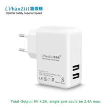 Europe EU Plug 20W 4.2A AC Adapter Fast Charging USB Power Charger For iPhone for Samsung Galaxy Note4 Tablet for HTC One M9