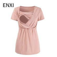 ENXI Summer Maternity Clothes Nursing Top Nursing Breastfeeding Tops Pregnancy Clothes For Pregnant Women Maternity Tops