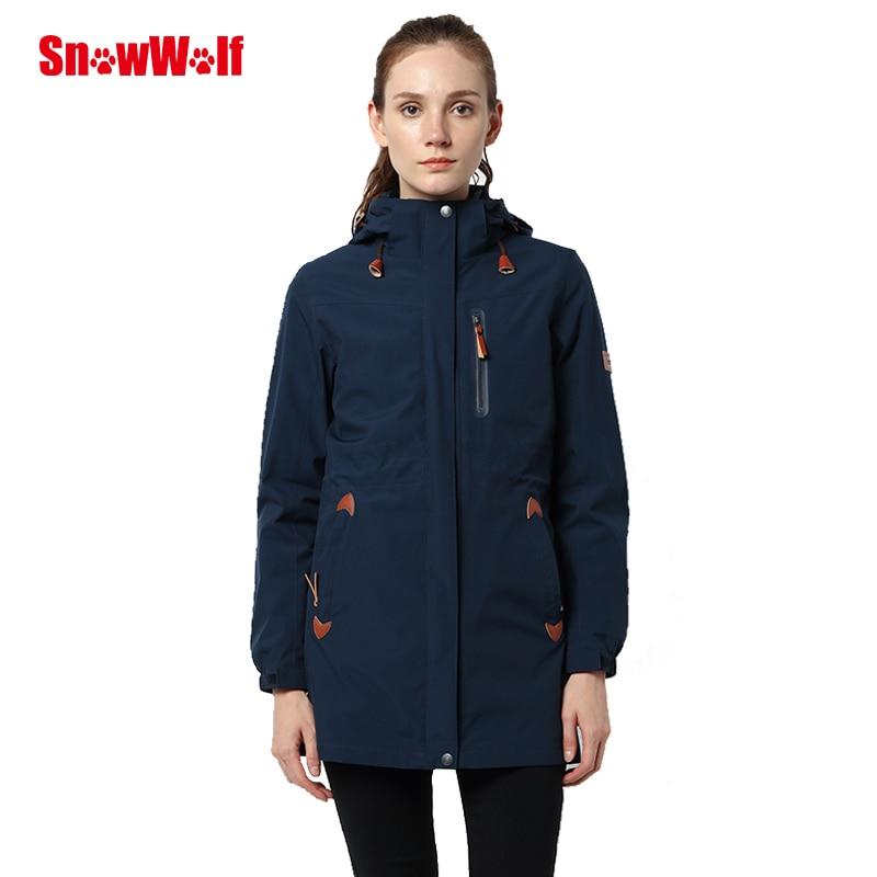 SNOWWOLF President Watetproof Down Jacket Warm Breathable Windbreaker Woman Ultralight Long Sport Jackets for Camping Hiking