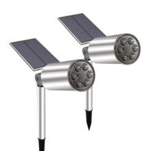 Landschaft Solar Strahler Wasserdichte Outdoor Solar Lichter Drahtlose Licht Sensor Sunpower Lampe für Garten Auffahrt Pathway
