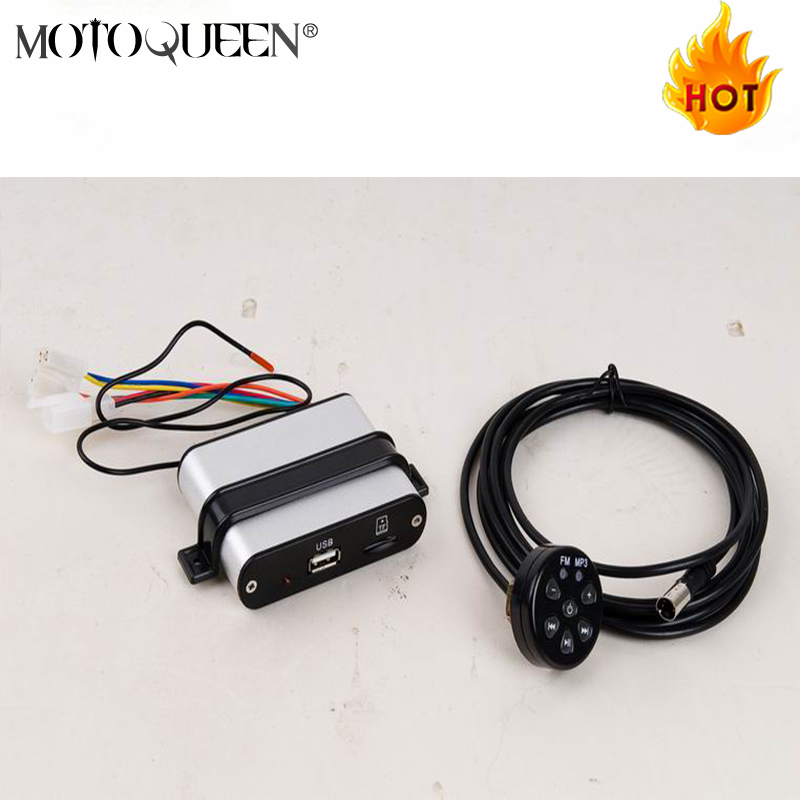 Car MP3 Motorbike Motorcycle MP3 Player,Scooter Audio Support SD Card,USB Motor Vehicle FM Radio