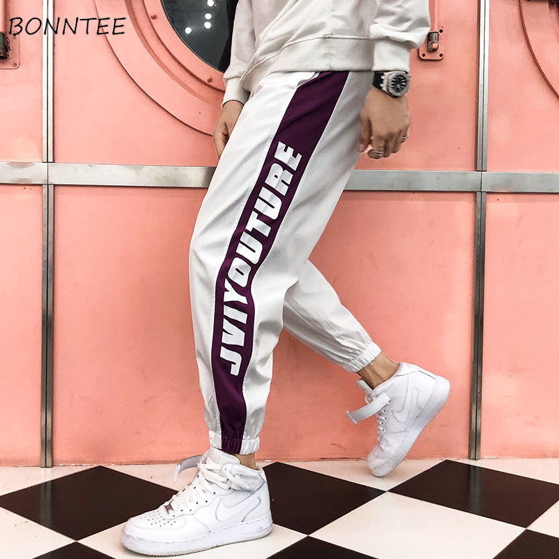 Pants Men Drawstring Loose Korean-Style Males Casual All-Match Ulzzang Ankle-Length Mid