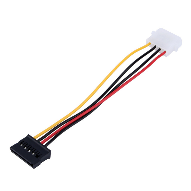 1pcs Serial ATA SATA 4 Pin IDE to 15 Pin HDD Power Adapter Cable Hard Drive Adapter Male to Female Cable Free Shipping