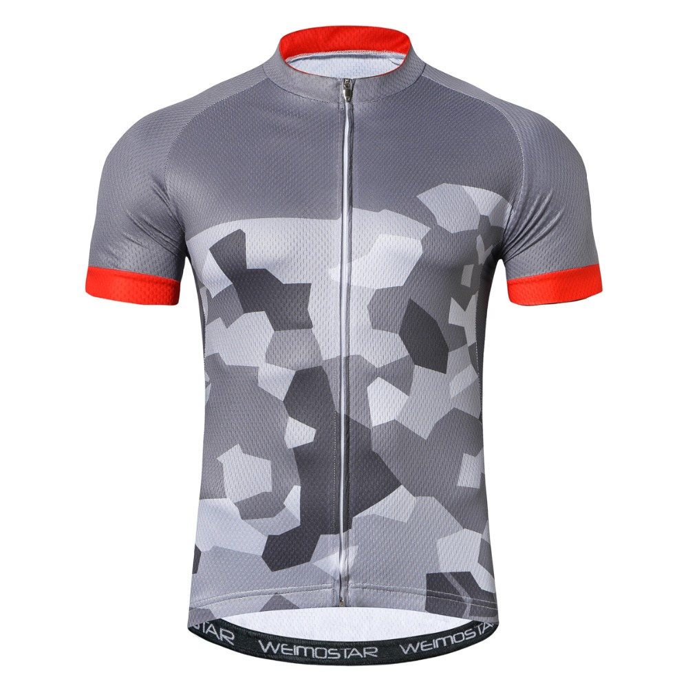 2cd9d8251 New Cycling Jersey Short Sleeve Camouflage Gray Black Bicycle Wear Ropa  Ciclismo road Bike Cycling Shirts Sport Clothes for Men -in Cycling Jerseys  from ...