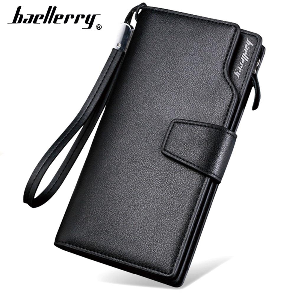 Karte halter Leder Brieftasche männer Lange Design Qualität passport abdeckung Mode Casual Herren Geldbörse Zipper Multi-funktion geldbörse 7X