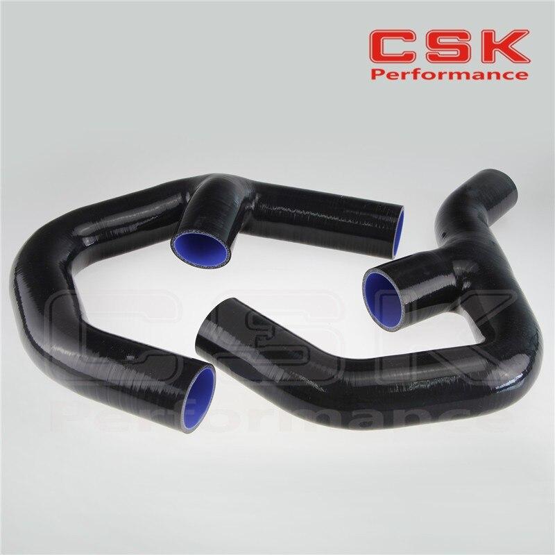 Турбо силиконовый интеркулер шланг для VW GOLF MK5 MKV GTI 2,0 FSi T 06-09+ зажимы черный