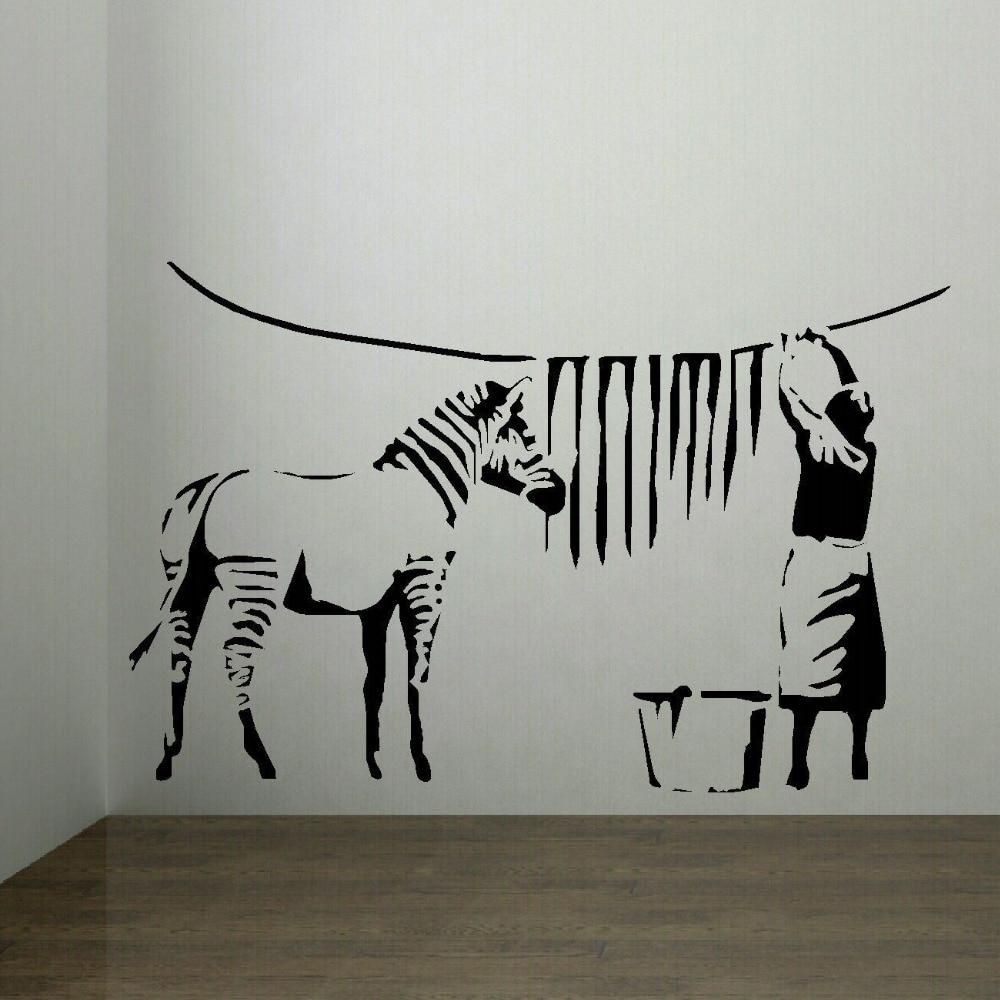 popular zebra stripes wall stickers buy cheap zebra stripes wall banksy zebra stripes laundry room wall art sticker mural transfer decal wall sticker fashion wall sticker