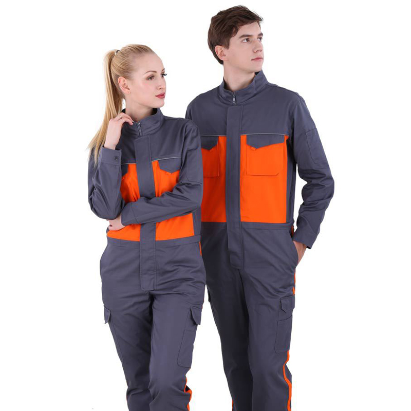 Anti-static Siamese Overalls Auto Electrician Fold Overalls Workers Unisex Autumn Long Sleeve Stitching High-end Piece Suit
