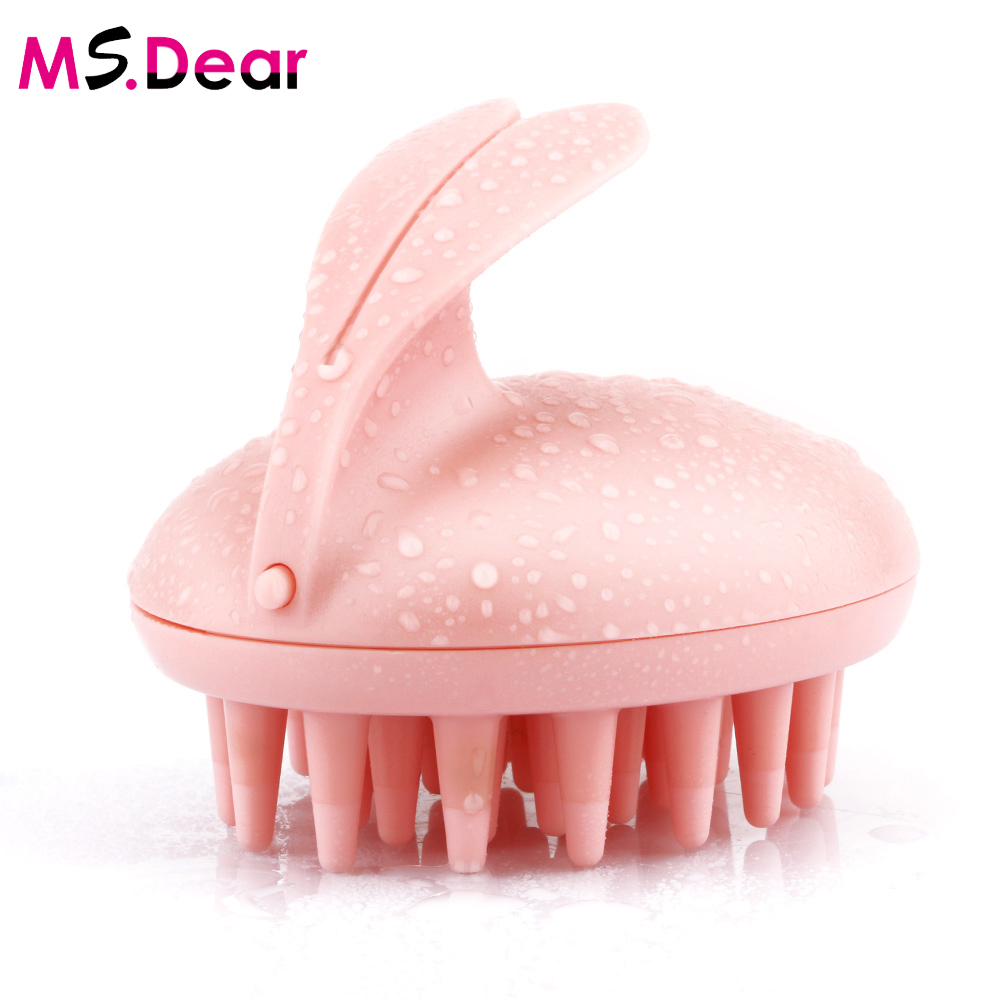Cute Magical Rabbit Scalp Massager Electric Hair Brush Shampoo Comb Vibration Head Massage Stress Relief Bath