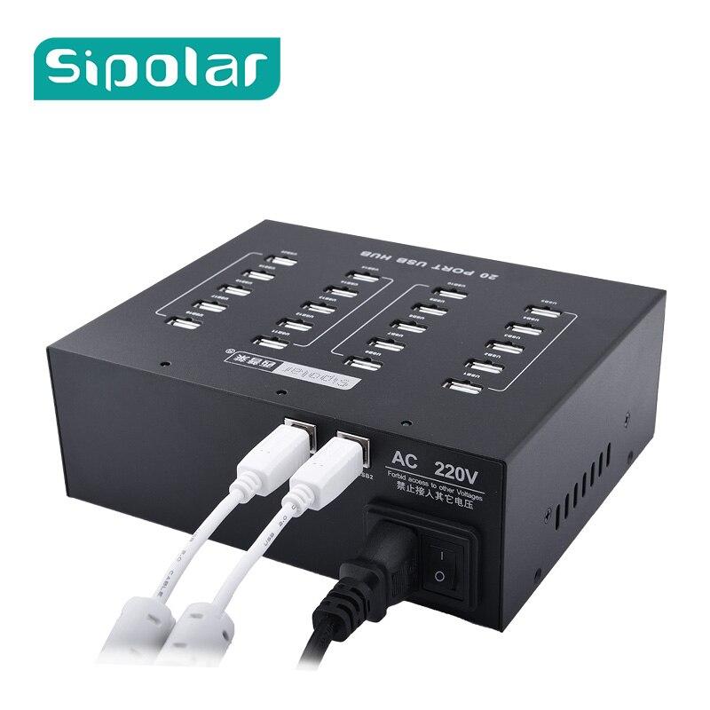 Sipolar Qualité Industrielle 110 V/220 V 20 Port USB 2.0 HUB Hub De Charge USB Station Chargeur Avec 5V20A puissance Adaptateur Pour 3G Modem