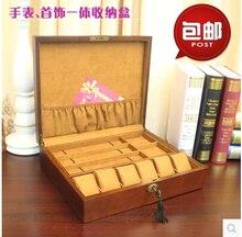 Роскошные Оригинальные деревянные 6-слот деревянные часы коробка ювелирных изделий для часов роскошные часы коробка ювелирных изделий часы дисплей MSBH005e