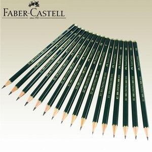 Image 2 - Faber castell lápis de desenho, lápis de desenho preto personalizado 12 peças de marca (6h 8b)