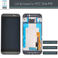 Free DHL 10pcs/lot Original LCD Display Touch Screen Digitizer With Frame For HTC One M9 LCD Complete Assembly Replacement